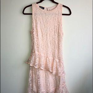 Pink lace Bebe dress